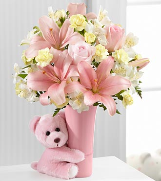 BGH - FTD Baby girl big hug bouquet