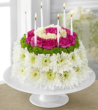 D2-4896 - FTD wonderful wishes floral cake