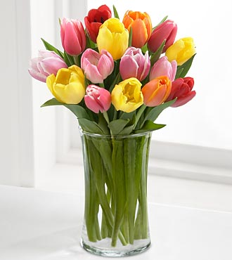 FC70 - Rush of color assorted tulip bouquet