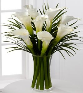 FE44 - Endless elegance Calla Lily Bouquet