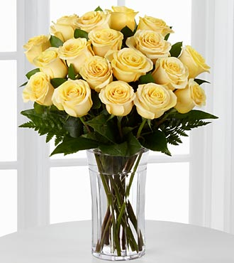 FI74 Passion for sunshine rose bouquet