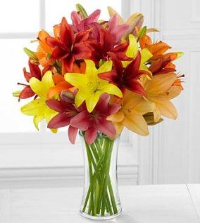 FK193 - Sunsplash swetness asiatic lily bouquet