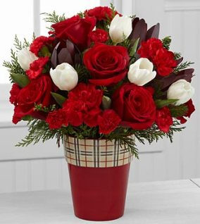 FK232_330x370 - Christmas comfort rose & tulip bouquet