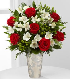 FK238_330x370 - Seasons Style Rose & Peruvian Lily Bouquet